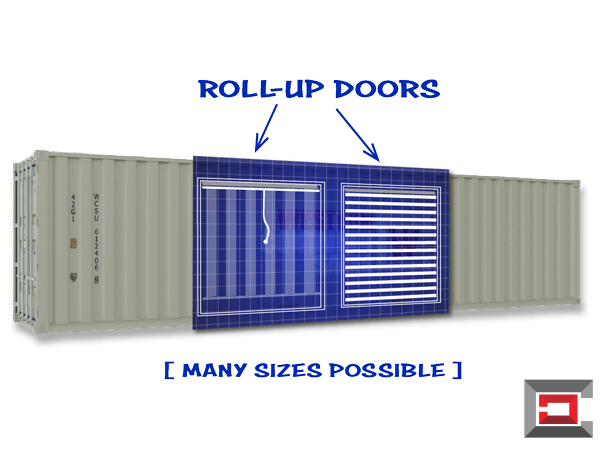 Shipping-Container-Modifications-For-Sale-Roll-up-Door-Installed